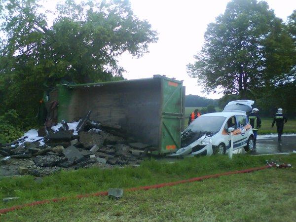 Accident camion contre voiture