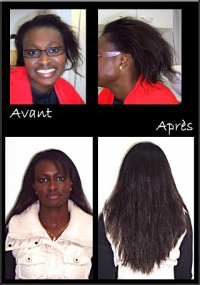 un exemple de pose d extensions sur des cheveux afro le temps des extensions. Black Bedroom Furniture Sets. Home Design Ideas