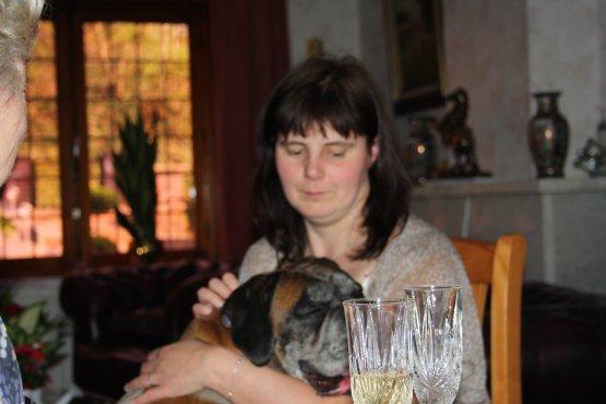 Elisabeth et mon chien Rex.