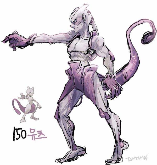 Mewtwo en humain