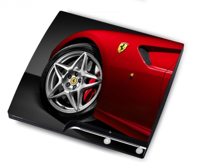 "sticker ""ferrari""  PS3 Slim 15 eur"
