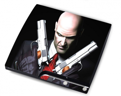 "sticker ""Hitman""  PS3 Slim 15 eur"