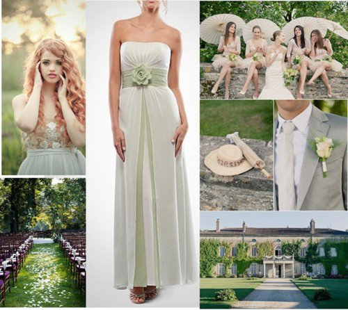 Outdoor Wedding Fashion Rustic Country Bridesmaid Dresses
