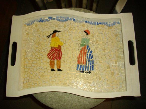 Plateau breton en mosaïque
