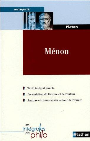 . Ménon, Platon .