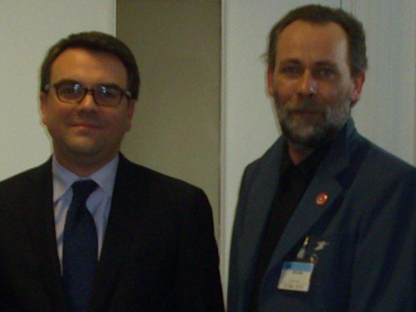 Reclassés Ptt :Thomas THEVENOUD (Député PS) et Vincent Nouvel (SUDPTT)