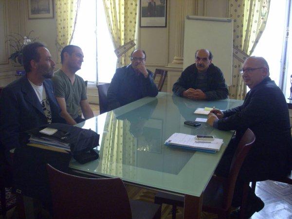 Reclassés PTT, audience avec le Député François BROTTES, Président de la commission des affaires économiques de l'Assemblée Nationale