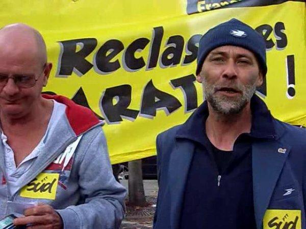 Reclassés des PTT : prise de parole le 17 10 2014 Vincent Nouvel & Jean Paul Dessaux SUDPTT