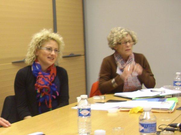 Reclassés des PTT : Catherine TROALLIC (Députée 76 Le Havre), Marie Hélène FABRE (Députée 11 Narbonne)