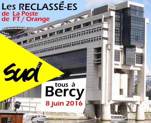 Reclassé(e)s de la poste et télécom/orange TOUS à Bercy le 8 JUIN 2016