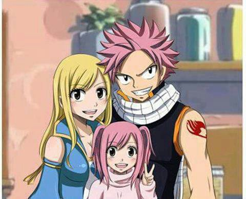 Lucy natsu et meldy leur fille my passions - Fille fairy tail ...