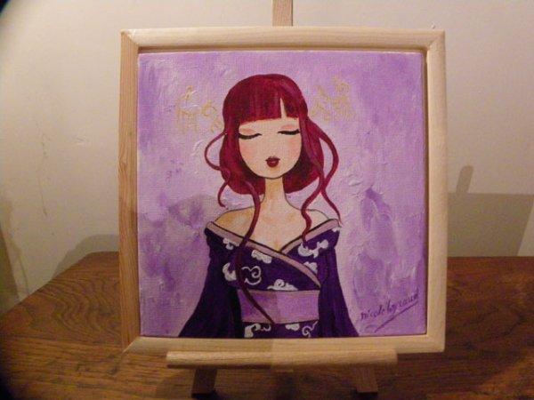"""Japonaise-  les toiles intitulées """"japonaises"""" sont plus ou moins inspirées de Misstigri."""