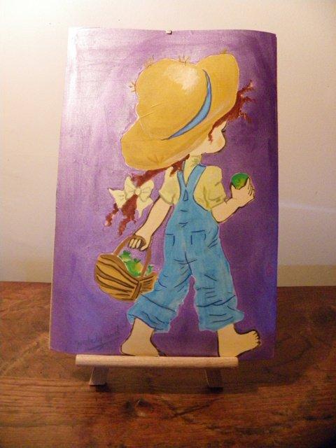 Fillette-  Peinture sur soie