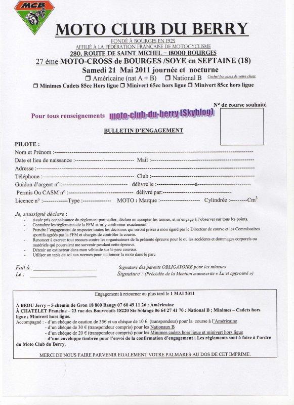 27 ème motocross de Bourges Soye en Septaine