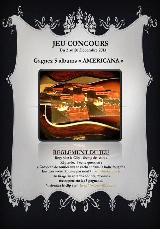 """GRAND JEU CONCOURS 5 ALBUMS """"AMERICANA"""" À GAGNER."""