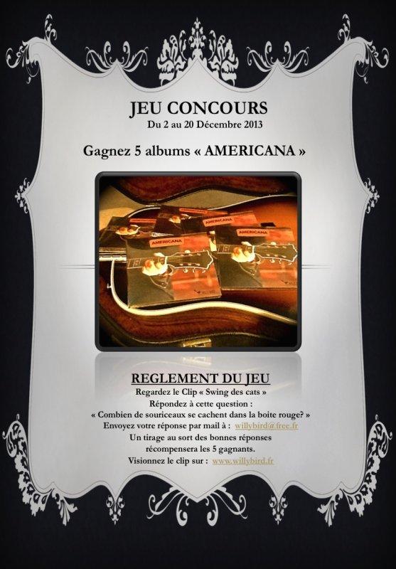 """ATTENTION PLUS QUE 4 JOURS POUR LE GRAND JEU CONCOURS  5 ALBUMS """"AMERICANA"""" À GAGNER."""