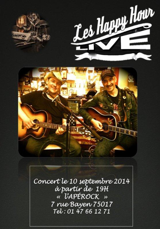 Concert duo 10 septembre à l'Apérock.
