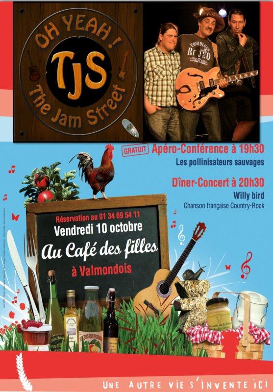 """CONCERT LE 10 OCTOBRE au """"Café des filles"""" à Valmondois."""