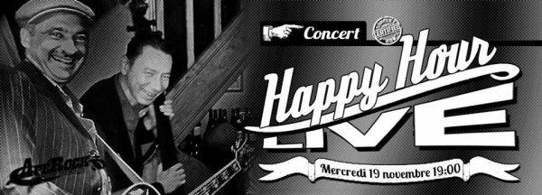 """duo le mercredi 19 novembre à"""" l'Apérock"""" pour un happy hour live dans Paris."""