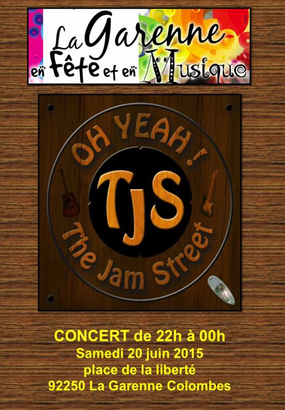 "CONCERT le 20 JUIN 2015 du groupe "" The Jam Street """