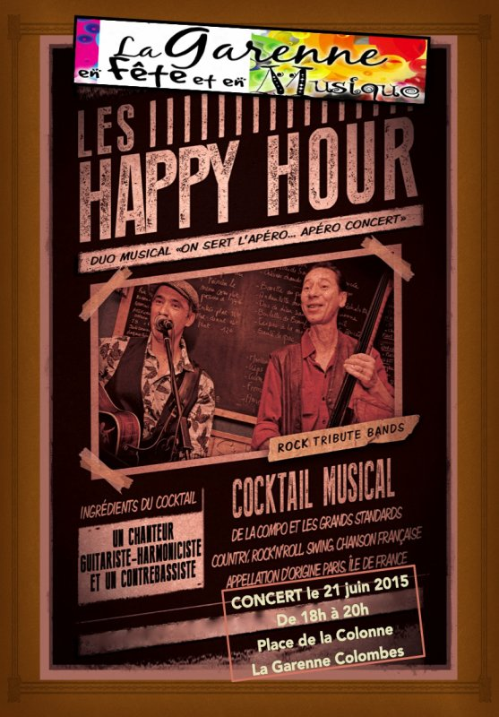 "CONCERT le 21 JUIN 2015 du duo"" LES HAPPY HOUR """