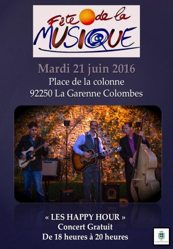 21 juin pour la fête de la musique à la Garenne Colombes