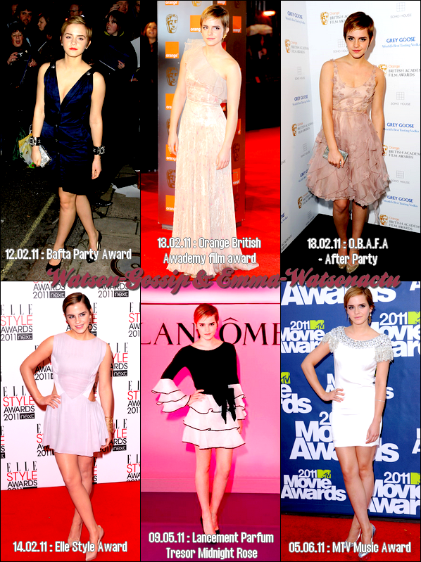 * Récapitulatif des tenues d'Emma en 2011 ! A toi de voté !    *