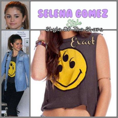Selena Gomez ; UNIF 6 yeux débardeur