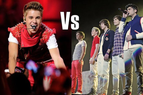 justin vs ONE DIRECTION