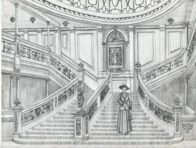 Grand escalier titanic - Dessin du titanic ...