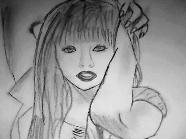 Un dessin de Lady GaGa que j'ais fait en 30min