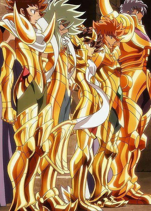 Et c'est la qu'on se rend compte que Seiya et le plus petit des Gold ^^ Même Kiki est plus grand que lui ^^