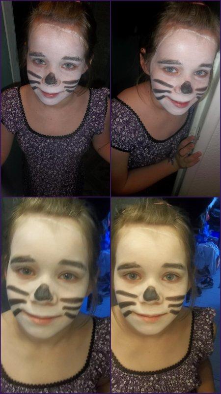 Ma fille Lauriane maquillé pour la fête du Jeu.