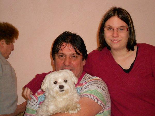 moi et papa et ma nonouche