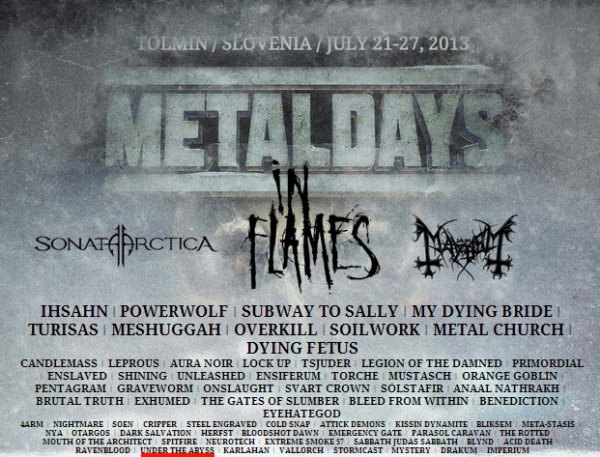 UNDER THE ABYSS au METALDAYS 2013