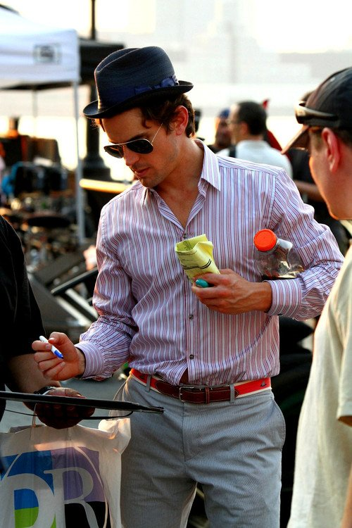 Matt Bomer and his love of trying to carry everything