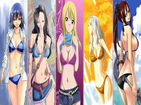 les 5 fille les plus belle a fairy tail ^^