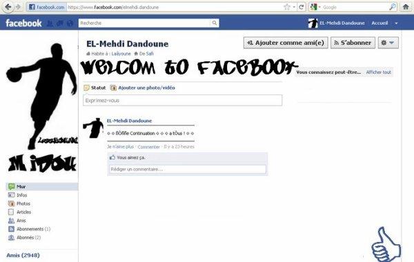 Profil sur facebook
