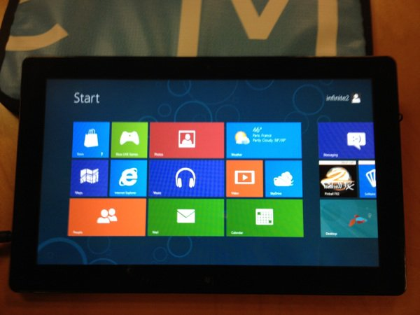 Une jolie tablette sous Windows 8