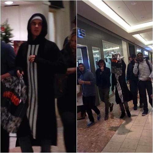 LE 10/12 - Justin a été vu à l'extérieur de sa maison avec ses amis à Beverly Hills!