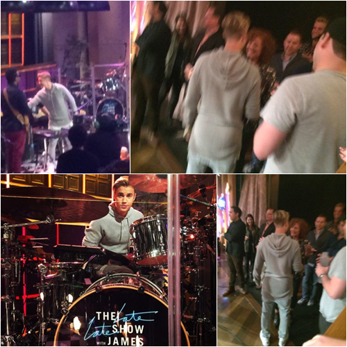 LE 12/05 - Justin était sur le plateau de l'émission Late Late Show with James Corden à Los Angeles!