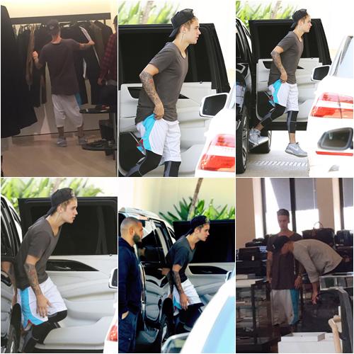 LE 23/05 - Justin a été vu dans un centre commercial à Los Angeles!