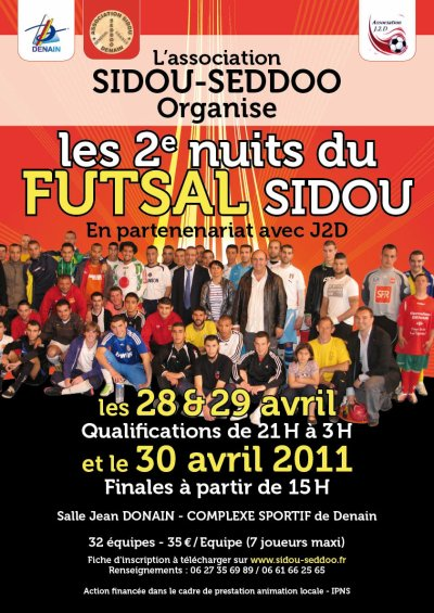 Evénément futsal à DENAIN:  Nuits du Futsal à Denain les 28 / 29 et 30 AVRIL
