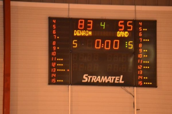 Denain bat Optimal Gand : 83 - 55