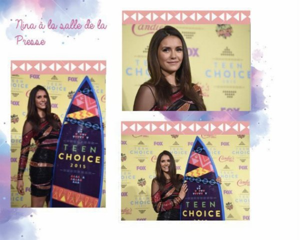 Nina Dobrev au Teen Choice Award 2015