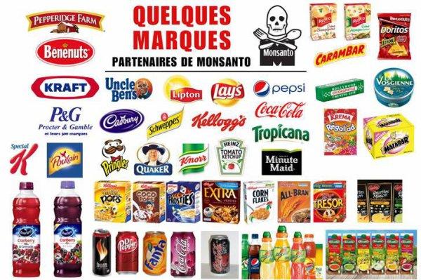 Quelques Marques  Partenaires de   Monsanto    :