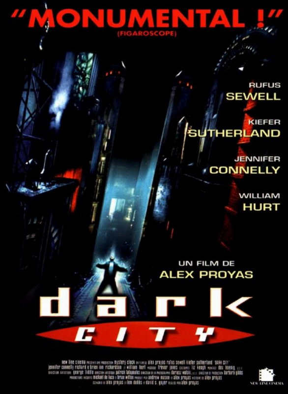 "film de la semaine :  ""   Dark City "" by   Alex Proyas"
