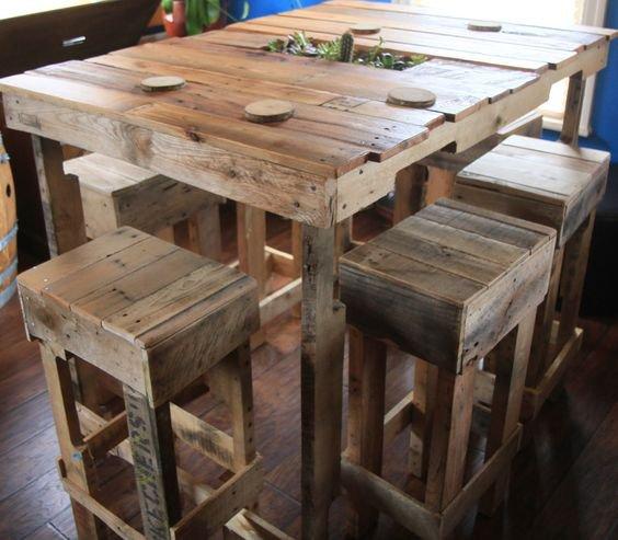 Idées Eco : Table en Palette