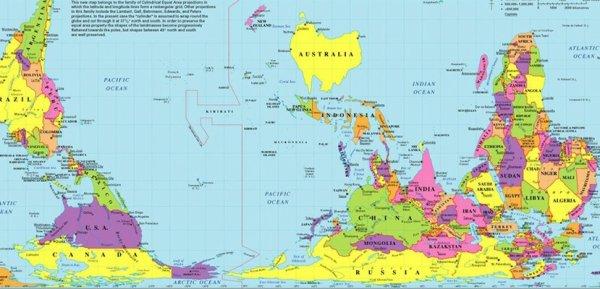 Un autre point de vue de  la carte du monde    :