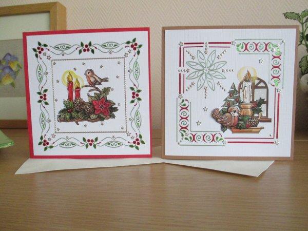 cartes pour les fêtes de fin d'année.. mini autocollants à placé, vraiment très gai à faire , avec beaucoup de patience
